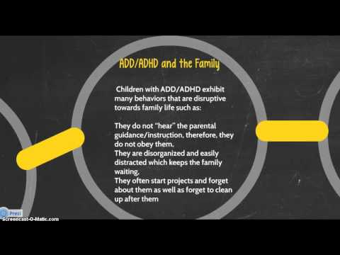 family Support for Parents of Children with ADD/ADHD