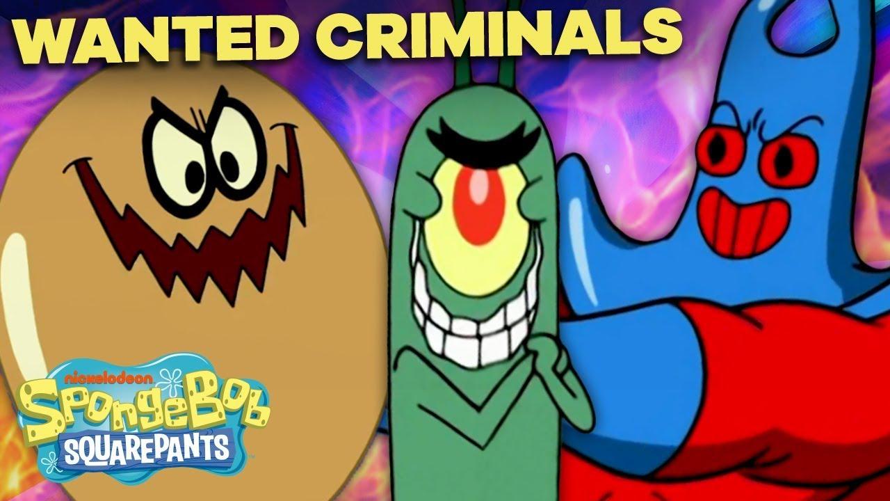 Bikini Bottom's Most Wanted Criminals 🚨 SpongeBob