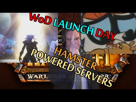 Hamster Powered Servers on Warlords of Draenor Launch Day (World of Warcraft)