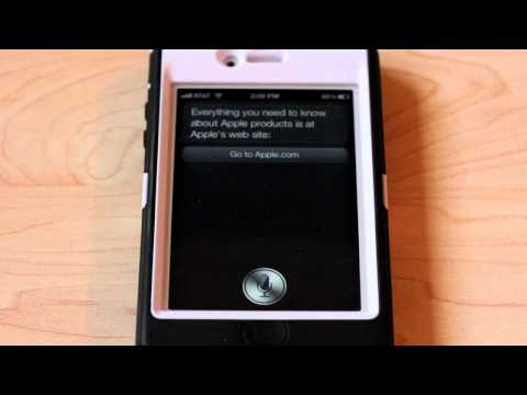 Apples Siri Personal Assistant Quick Demo