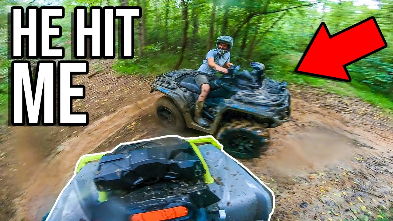 KYLE RAN INTO ME WITH HIS CAN-AM! Crazy DRIFTING!