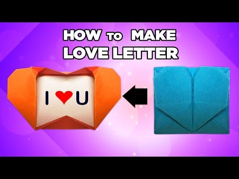 How To Make Love Letter - Heart Box - Easy Origami