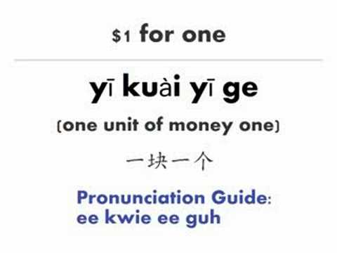Learn Chinese Mandarin: How much is it? Counting Money