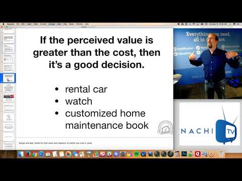Perceived Value Inspection Tip #6 for Home Inspectors from www.NACHI.TV