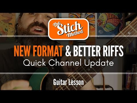 ANNOUNCEMENT! And Guitar Tip #2 for Better Riffs