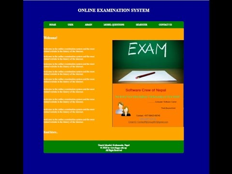 Online Examination System Complete Project in PHP and XAMPP