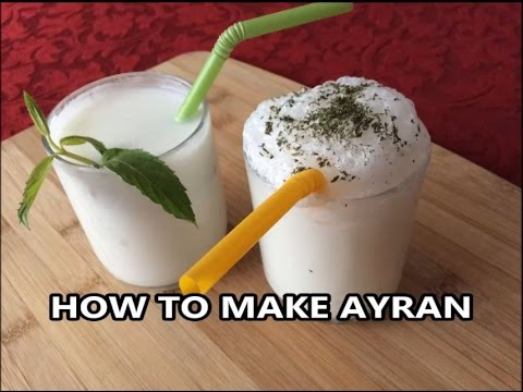 HOW TO MAKE AYRAN - Traditional Turkish Soft Drink