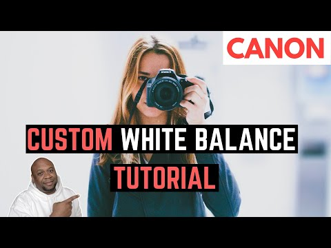 Custom White Balance Canon T6i - How to Set White Balance for Video