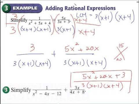9.5 Add and subtract rational expressions