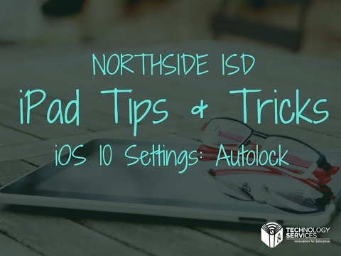 Settings: Autolock IOS 10