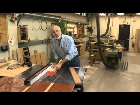 How To Cut a Tapered Board on a Tablesaw