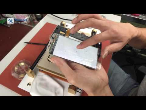 Secret:how to separate s6 edge/ s7 edge  screen with hot plate and cutting wire -close up