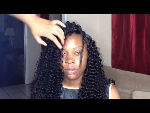 START TO FINISH | Blend Relaxed Hair W/ Curly Hair | Deep Side-Part Quick-Weave