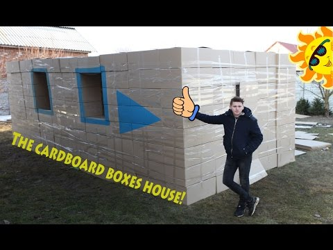 Diy Cardboard House! let's build our construction. How to make a cardboard house
