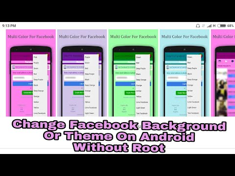 How to Change Facebook Background or Facebook Theme on Android Without Root by Alomgir
