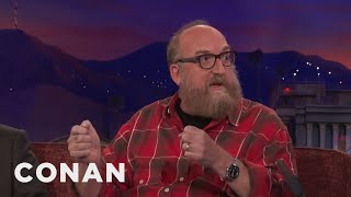 Brian Posehn Pulled An Earthquake Prank On Dave Chappelle  - CONAN on TBS