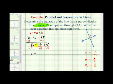 Ex 2:  Find the Equation of a Line Perpendicular to a Given Line Passing Through a Given Point