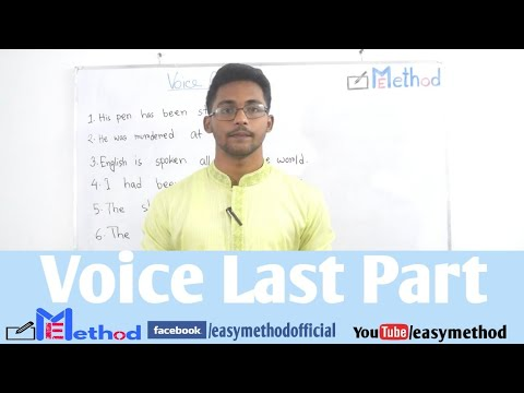 Changing Voice|Last Part|English-2|Class 11-12