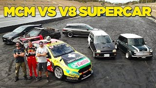 Racing a V8 Supercar (In Our Street Cars!!)
