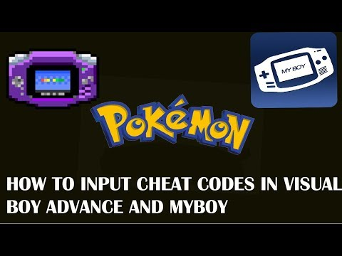 How to input CHEATCODES in MyBoy and Visual Boy Advance