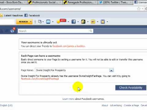 How To Create A URL for Your Facebook Profile or FanPage