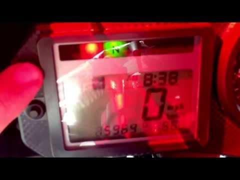2002 Honda CBR mph to km/h toggle