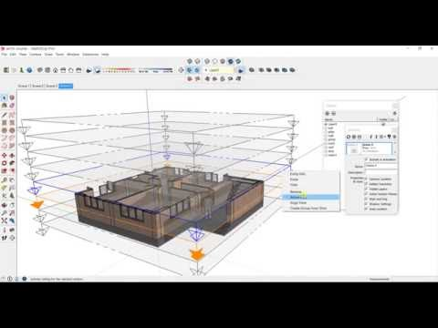 SketchUp animation using section and scene