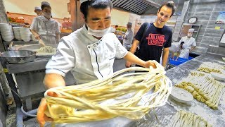 Chinese Street Food HAND PULLED Noodle Tour in Xi