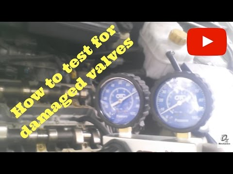 How to test for damaged valves. When timing belt breaks