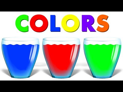 Learn Colors | Water Colors | Educational Video for Kids & Toddlers