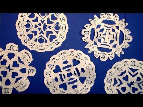 Easy Paper Doily Snowflakes