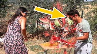 EXPLODING WATERMELON CHALLENGE (GONE WRONG)