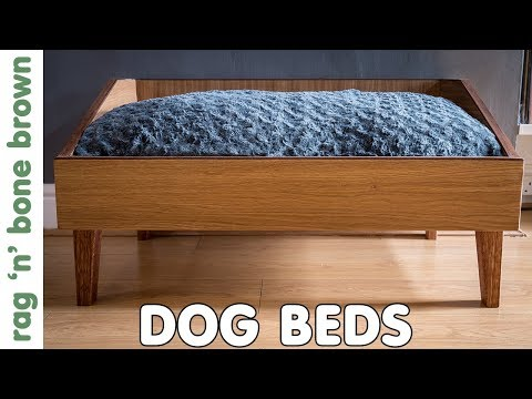 Wooden Dog Beds - Mid Century Modern