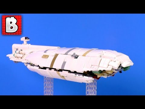 LEGO Star Wars GR-75 Medium Transport MOC 850+ parts | BUILD TIMELAPSE REVIEW