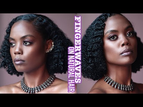 Fingerwaves on Medium\Long Natural Hair   ISSA VINTAGE VIBE   Beginner Friendly