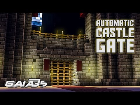 How To Make an Automatic Minecraft Castle gate
