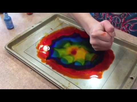 Fire and Alcohol Ink Artwork