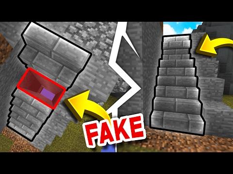 FAKE Staircase TRAP! (Minecraft Skywars Trolling)