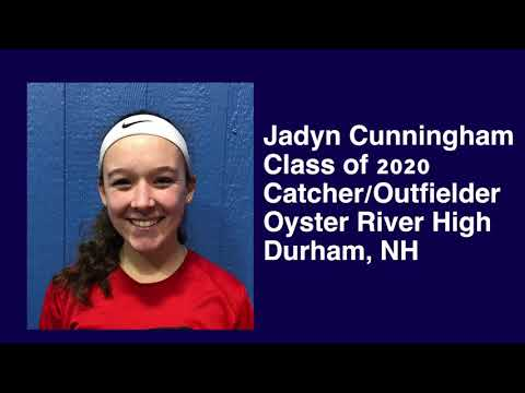 Jadyn Cunningham - 2020 Catcher with 1.8 Pop / 3.7 GPA