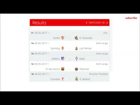 spanish league | 35 matchday | la liga table and results | fixtures