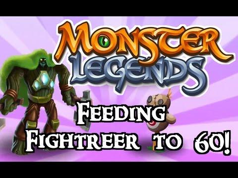 Monster Legends - Feeding Fightreer to 60!