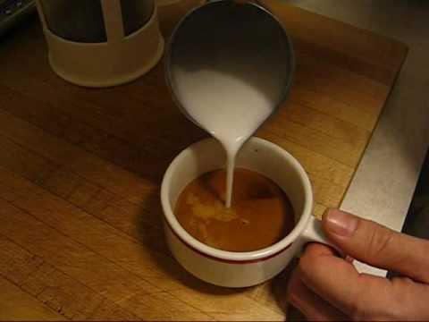 steaming milk on a la pavoni espresso machine for latte art