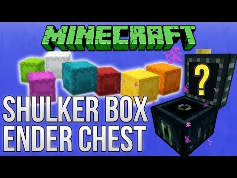 Minecraft 1.12: Shulker Box & Ender Chest Guide (Tutorial)