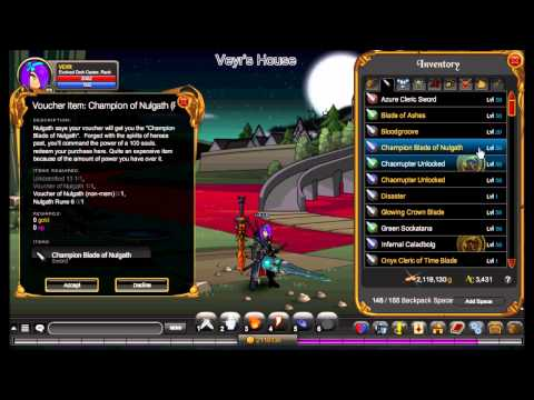 AQW Let's Not Play: Episode 19: Oblivion Blade of Nulgath (Rare) Explained!