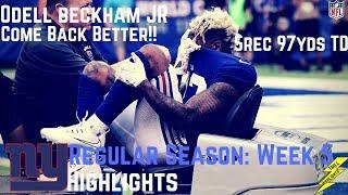 Odell Beckham Jr Week 5 Regular Season Highlights Come Back Stronger!   10/08/2017