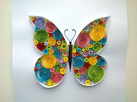 Paper Quilling: Butterfly Quilling Tutorial.