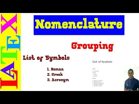 Grouping of List of Symbols in LaTeX (LaTeX Advanced Tutorial-24)