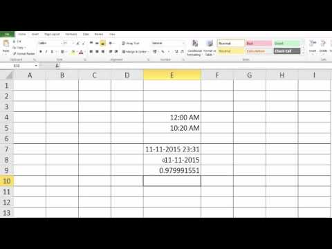 Excel Formulas and Functions - How to display current TIME and DATE?