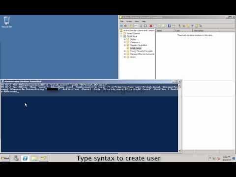How to create/add user and OU in active directory with powershell/command on windows server