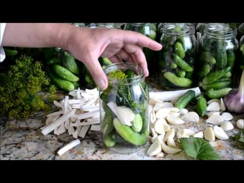 How to make Polish-style pickled cucumber.Ogork kwaszony.
